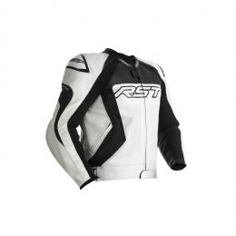 RST Blouson Tractech EVO 4 CE cuir blanc/noir HOMME
