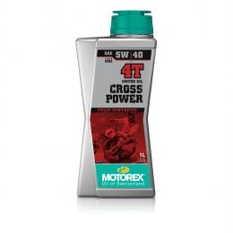 Huile moteur MOTOREX Cross Power 4T 100% synthétique